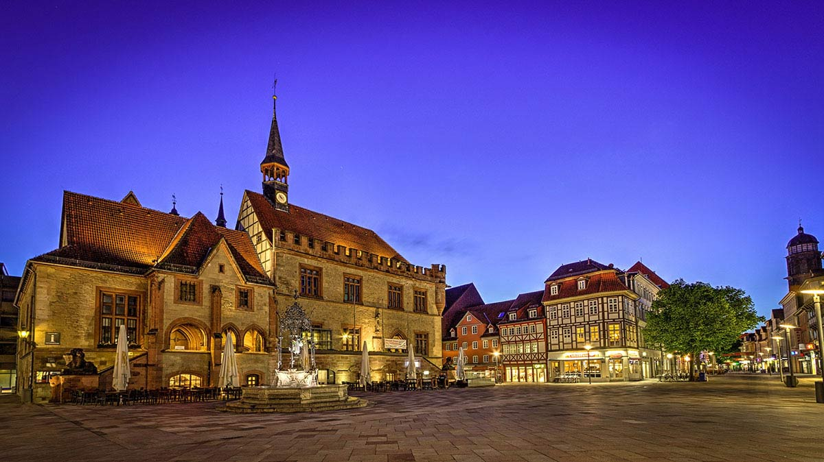Altes Rathaus Abendstimmung / Old Town Hall Evening atmosphere; Copyright: Göttingen Tourismus e.V.