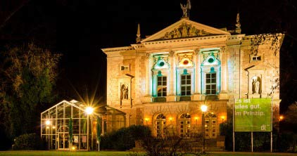 Deutsches Theater bei Nacht / German Theatre by night; Copyright: Göttingen Tourismus e.V.